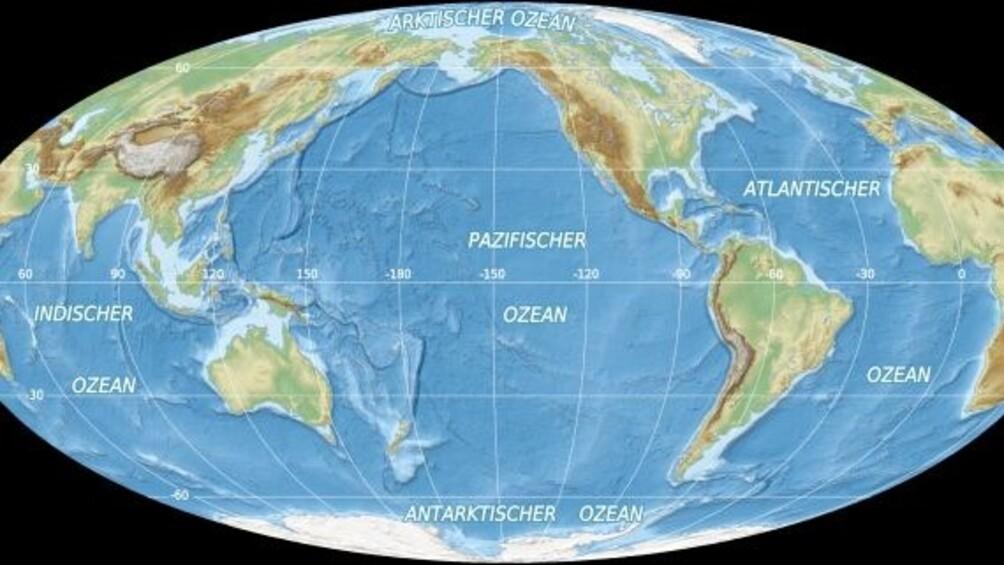 Link zum Arbeitsblatt Dreimal Wasser: See, Meer und Ozean